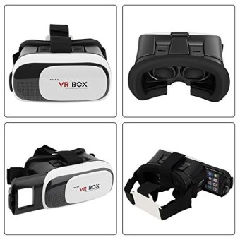 Harga VR Box Virtual Reality 3D Suitable for Glasses For Smartphone & Ios / VR Box 2 - Putih ï¾