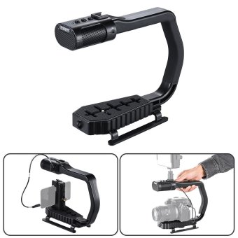 Harga Sevenoak MicRig Stereo Video & Audio Recording Grip with Microphone 1 Stop Solution for DSLRs Camcorders Action Cameras Smartphones Outdoorfree - intl