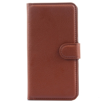 Harga Horizontal Flip Solid color Leather Case with Card Slots and Holder and Wallet for Lenovo S820(Brown) - intl