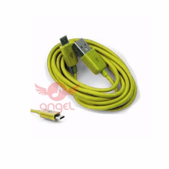 Angel Candy Colour Cable Blackberry 1m Type 02- Micro USB - Kuning