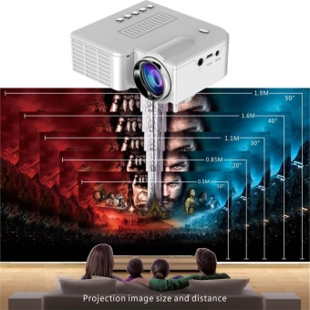 Harga YBC Portable Mini LED Projector Home Cinema Theater With Manual Remote Control - intl