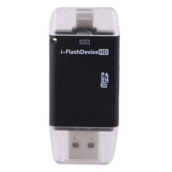 Harga i-Flash Drive External Storage OTG Card Reader for Apple iPhone / iPad - Hitam