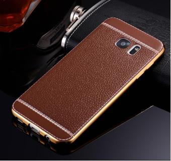 Harga Phone case soft leather mobile phone case litchi grain cortical soft shell for Samsung Note 5