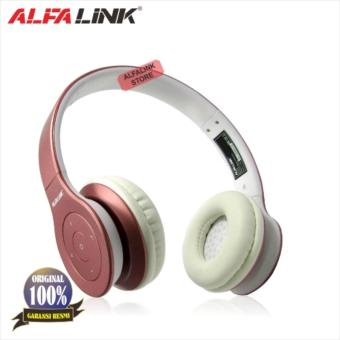 Harga ALFA LINK Bluetooth Headset BTH 330 Rose Gold