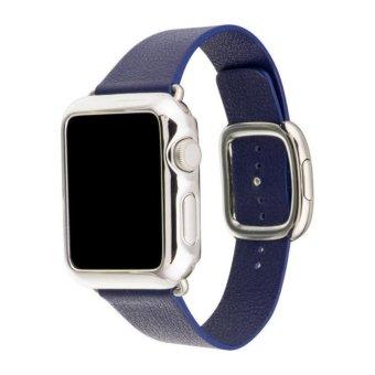 ... Apple Watch Iwatch 38mm Blue Jay Intl. Dimana Beli Bluesky Modern Buckle Genuine Leather Band Strap Source Modern Genuine Leather Replacement Leather ...