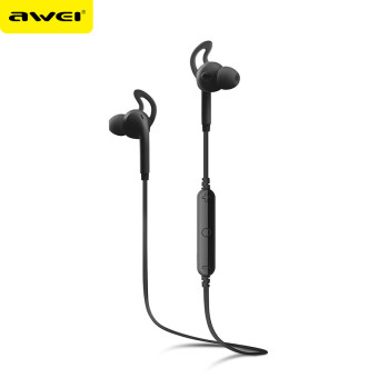 Harga Earphone Awei A610BL Bluetooth 4.0 dengan noise reduction, stereo (hitam)