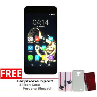 Harga Advan G1 - 16 GB - Grey + Gratis Perdana Simpati, Silicon Case & Earphone Original