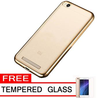Case Ultrathin Shining Chrome Untuk Xiaomi Redmi 4a Gold Free Tempered Glass