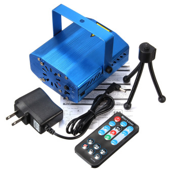 Harga Mini Auto/Voice Xmas DJ Disco Party LED Laser Stage Light Projector +Remote UK- intl