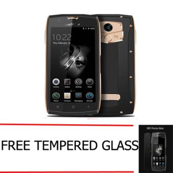 Harga Blackview BV7000 Pro Waterproof IP68 4G LTE RAM 4GB ROM 64GB - Gold FREE Tempered Glass