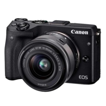 Harga CANON EOS M3 + EF-M15-45 IS STM KIT (BLACK) 24.2MP WiFi Touchscreen LCD