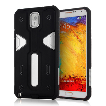 Harga Hard Back Case for Samsung Galaxy Note 3 (Black/Silver)