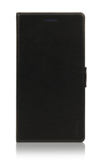 Harga Ahha Leather Case for Sony Xperia M2 Stealth Hitam-Kim Flip Case