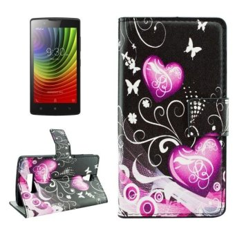 Harga For Lenovo A2010 Crystal Butterflies And Hearts Pattern Horizontal Flip Leather Case With Holder and Card Slots and Wallet - intl