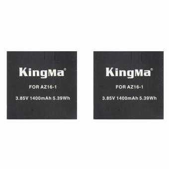 Harga Kingma Combo Duo Baterai/Battery Replacement For Xiaomi Yi 4K Ver.2 Action Camera - 2Pcs - Hitam