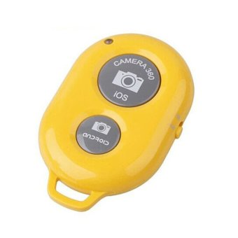 Hequ Bluetooth Wireless Remote Shutter IOS Android Monopod Remote Shutter (Yellow)