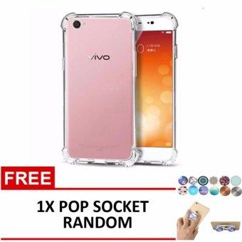 Casing Handphone Anti Crack Elegant Softcase for Vivo V5 Y67 Clear Free 1x .