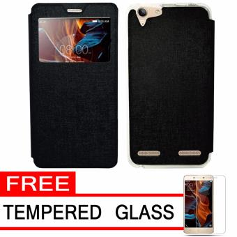 Vibe C A2020 Hitam Source · UME Flip Cover Case Leather Book Cover .