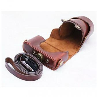 Harga Casual Style PU Leather camera Hard bag For Nikon J1 J2 J3 J4 S1 camera case (Coffee) - intl