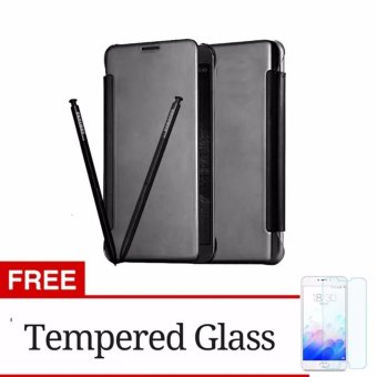 ... S View Transparan Auto Lock Casing Hp. Source · Flip Cover Mirror Wallet Clear View for Samsung Galaxy j2 Prime Black + Gratis Tempered Glass