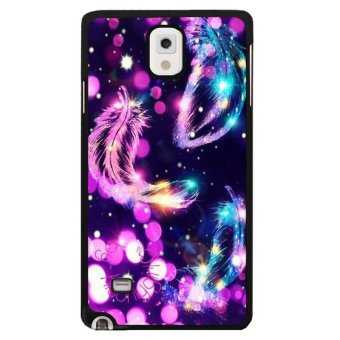 Beauty Feather Pattern Phone Case For Samsung Galaxy Note 4(Multicolor) - intl