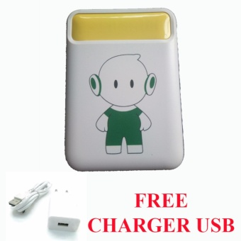 Powerbank LED 10400Mah for OPPO F1s + Free Charger USB - Kuning