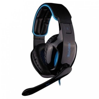 Harga Sades Snuk SA-902 Headset Gaming USB 2.0 7.1 Channel with Microphone - Biru