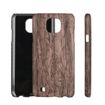 Harga Moonmini PU Leather Snap-On Back Case Cover For LG X Cam (Wooden Grain)