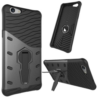 Harga Hybird Armor Back Cover Case With Kickstand For OPPO F1s / OPPO A59 / OPPO A59s (Black) - intl