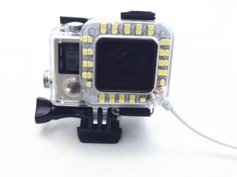 Harga MOON STORE LED Fill Light Mount Gopro Hero 4 3+ Housing Lens FOR Go Pro Hero3+ 4 Camera Mounting - intl