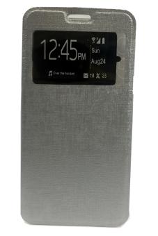 Case Flip Leather Cover for Xiaomi Redmi Note 3- Silver
