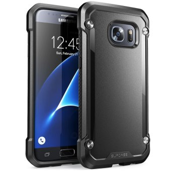 Harga SUPCASE TPU and PC Hybrid Protective Case for Samsung Galaxy S7 2016 (Black) - intl