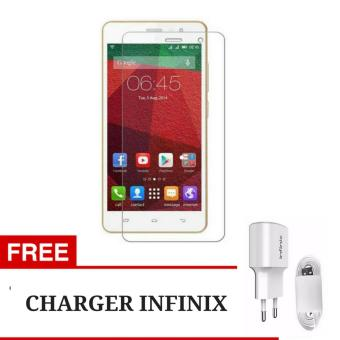 Tempered Glass Screen Protector for Infinix Hot 3 X553 - Clear + Gratis Charger Infinix