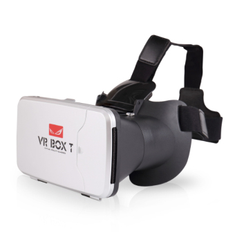 Harga VR Box 3D T with Capacitive Touch Button 3D VR Cardboard 2 - Putih