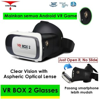 Harga Vr Box 2 play more VR game, with magnet , 3d vr glasses kacamata cardboard (VB2)