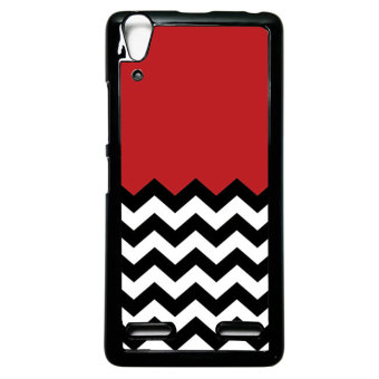 Harga Heavencase Case Casing Lenovo A6000 and A6000 Plus Hardcase Batik Kayu Chevron 29 - Hitam