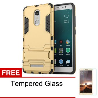 Harga Case TPU + PC Hard Case for Xiaomi Redmi Note 3 Pro + Tempered Glass - Gold