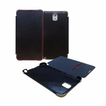 Harga Hanton Galaxy Note 3 Stitch Folio Cover - Hitam