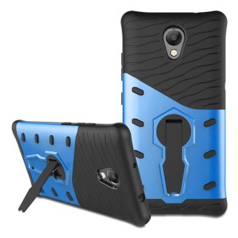 Harga Armor PC + TPU Smartphone Case with 360-Degree Rotary Kickstand for Lenovo P2 - Blue - intl