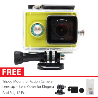 Harga KingMa Original Waterproof Case for Xiaomi Yi Action Camera Bundle - Hitam + Gratis Paket Hadiah