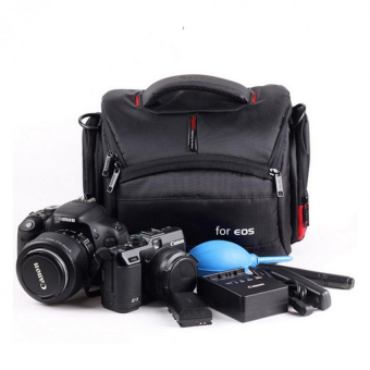 Harga Camera Case Bag for Canon DSLR 700D 100D 650D 600D 60D 6D 5D 7D 70D 400D 500D 1100D 550D 1300D 760D 750D(Black)