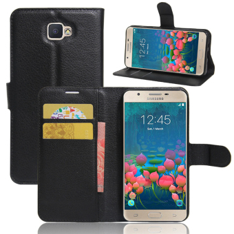 Wallet Flip Leather Case For Samsung Galaxy J5 Prime / Samsung Galaxy On5 2016 (Black) - intl