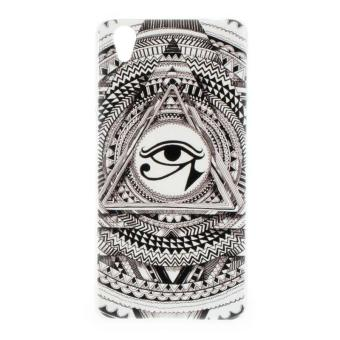 Indian Eyes Clear Edge Hard Plastic Painting Back Cover Case For OPPO A37 ( Clear)