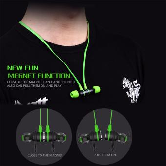 Harga PLEXTONE G20 Magnetic In-Ear Earphone Stereo Bass Gaming Headphone With Mic(Green) - intl