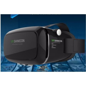 Harga VR Shinecon Virtual Reality Glasses Headset Gear + Bluetooth Joystick Remote - intl
