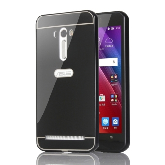 Harga Case For Asus Zenfone Selfie Bumper Slide Mirror - Black