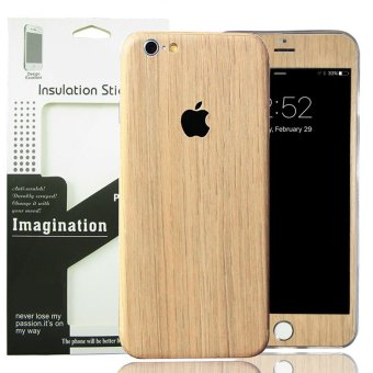 Harga for Apple iPhone 6 6S Wood PVC Full Body Skin Sticke DIY Front Back Cover Film