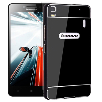 Harga Accessories Hp Elegant Lenovo A7000/Plus Metal Bumper Backcase - Hitam