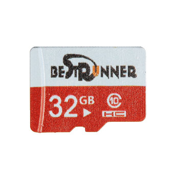 Harga Channy BESTRUNNER 32G TF Secure Digital High Speed Flash Memory Card SD Card Class10 Red