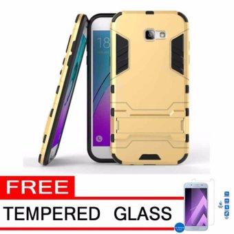 Harga Case Samsung Galaxy A5 2017 SM-A520 Transformer Robot Casing Iron Man – Gold + free Tempered Glass
